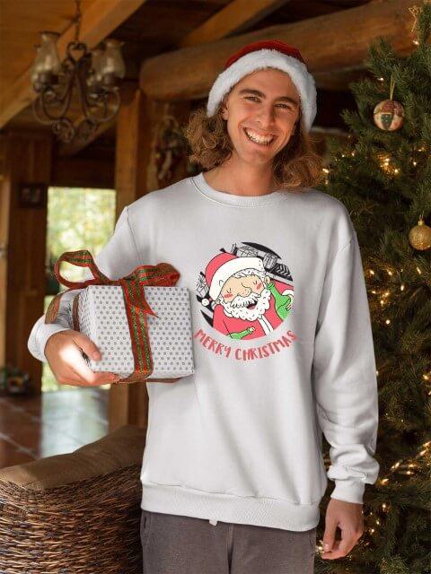 Beli duks za novogodišnju zabavu, Merry Christmas deda mraz. Print Store online shop