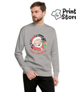 Merry Christmas deda mraz sivi duks bez kapuljače. Print Store online prdavnica