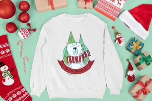 Srećni praznici meda - beli duks. Novogodišnji pokloni u online prodavnici.
